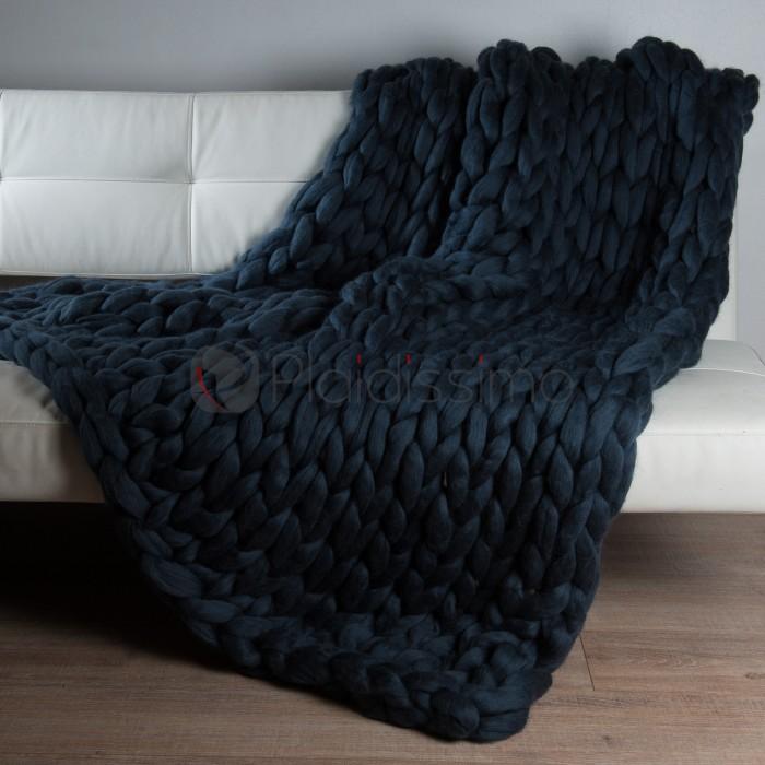 plaid en grosses mailles laine m rinos d 39 australie majestueux. Black Bedroom Furniture Sets. Home Design Ideas