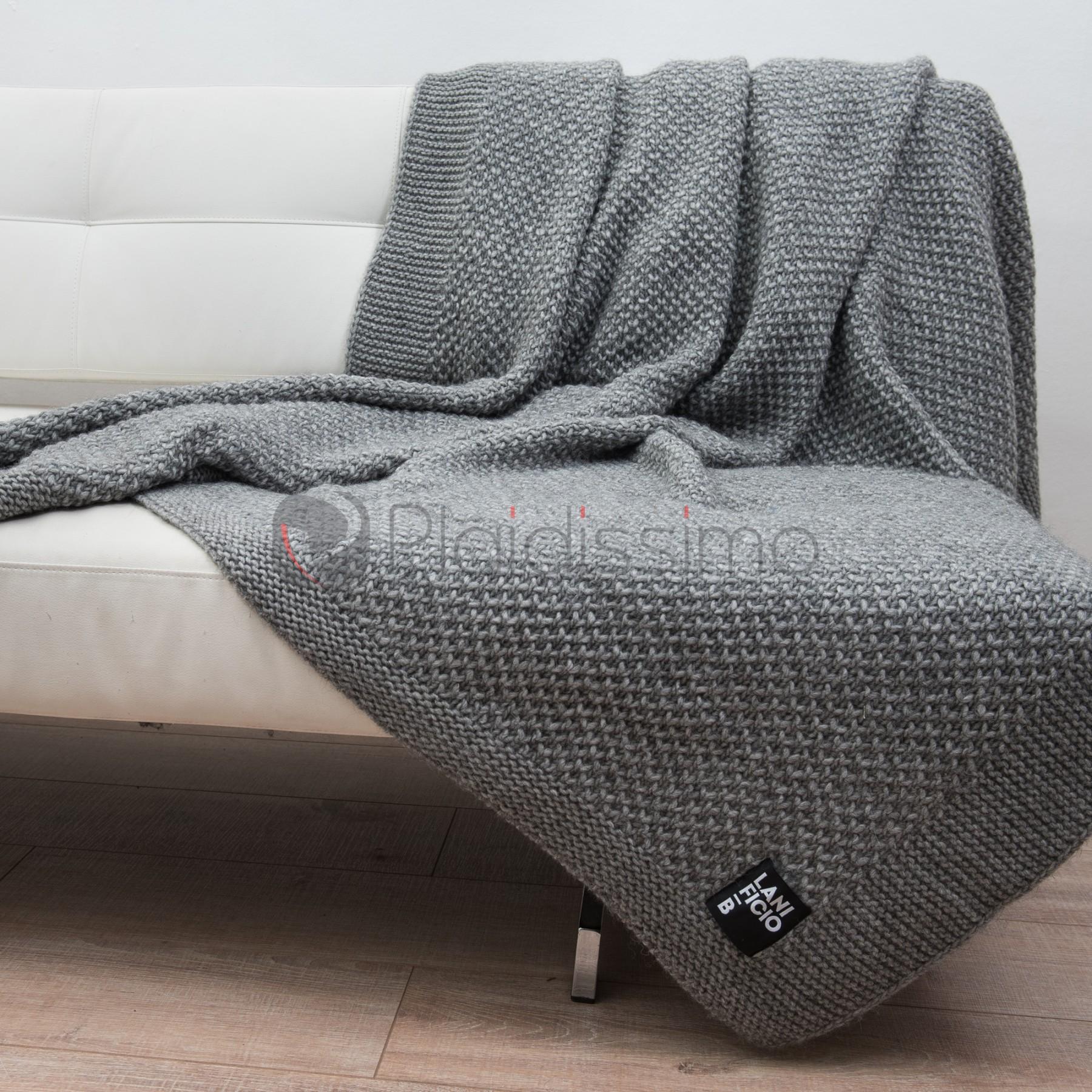 5b1e6090cc78 Plaid en Laine Vierge   Alpaga · Tricoté   Design Moderne · Knit ...