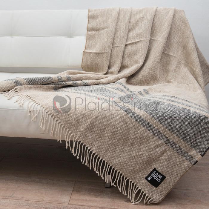 plaid en coton lin fin l ger confortable pratique pantalleria 100. Black Bedroom Furniture Sets. Home Design Ideas