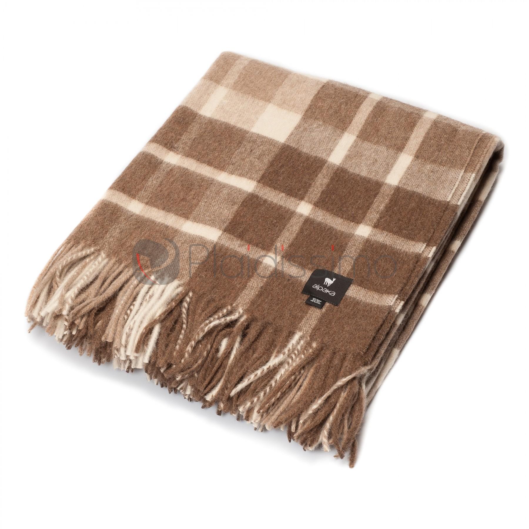 plaid en alpaga a carreaux bruns traditionnels classic scottish. Black Bedroom Furniture Sets. Home Design Ideas