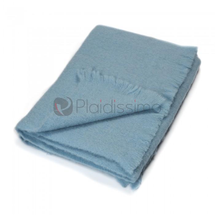 plaid en laine doux pour b b enfants bebe lana bleu uni taille taille 65 100 cm. Black Bedroom Furniture Sets. Home Design Ideas