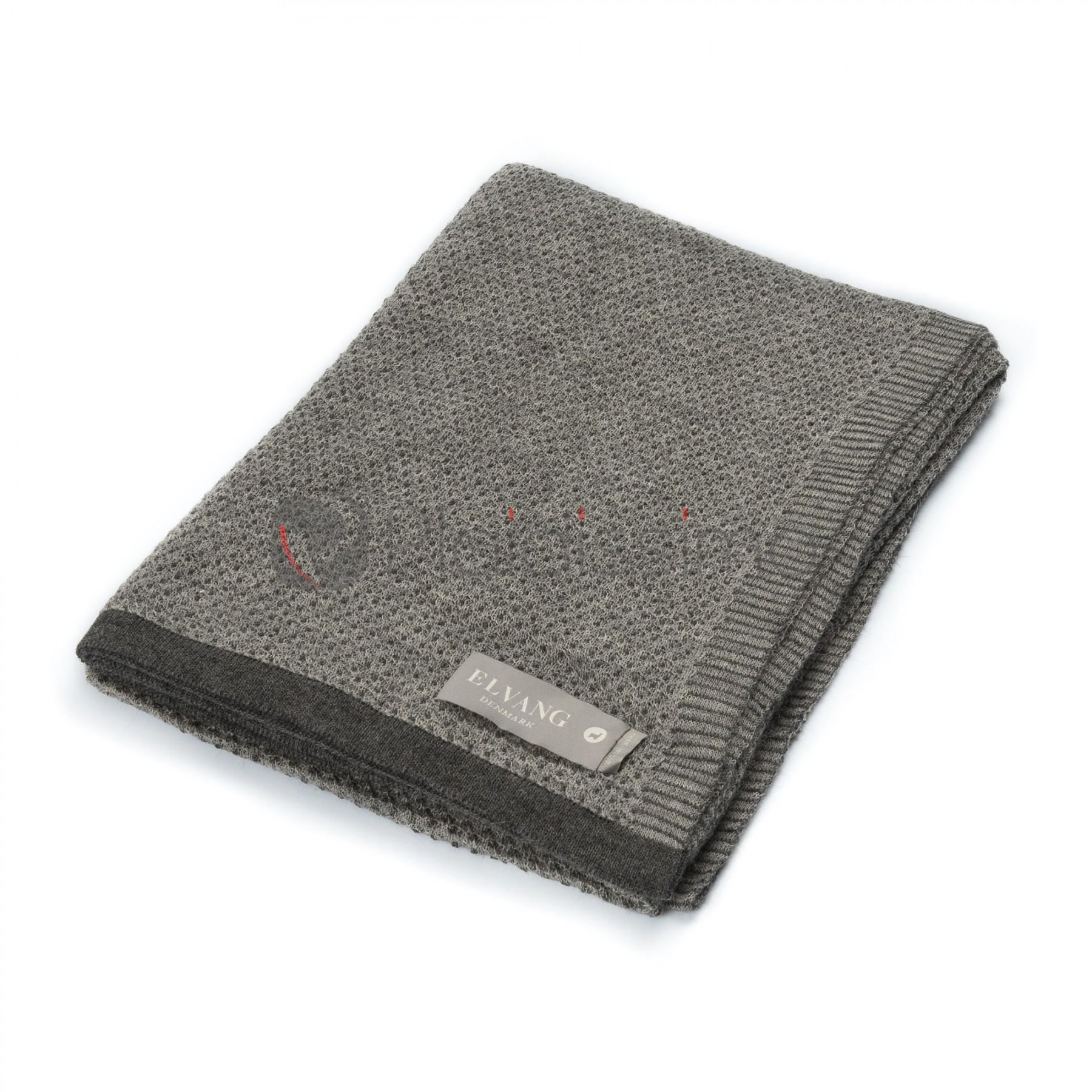 plaid 100 baby alpaga gris tricot finition anthracite raindrops. Black Bedroom Furniture Sets. Home Design Ideas