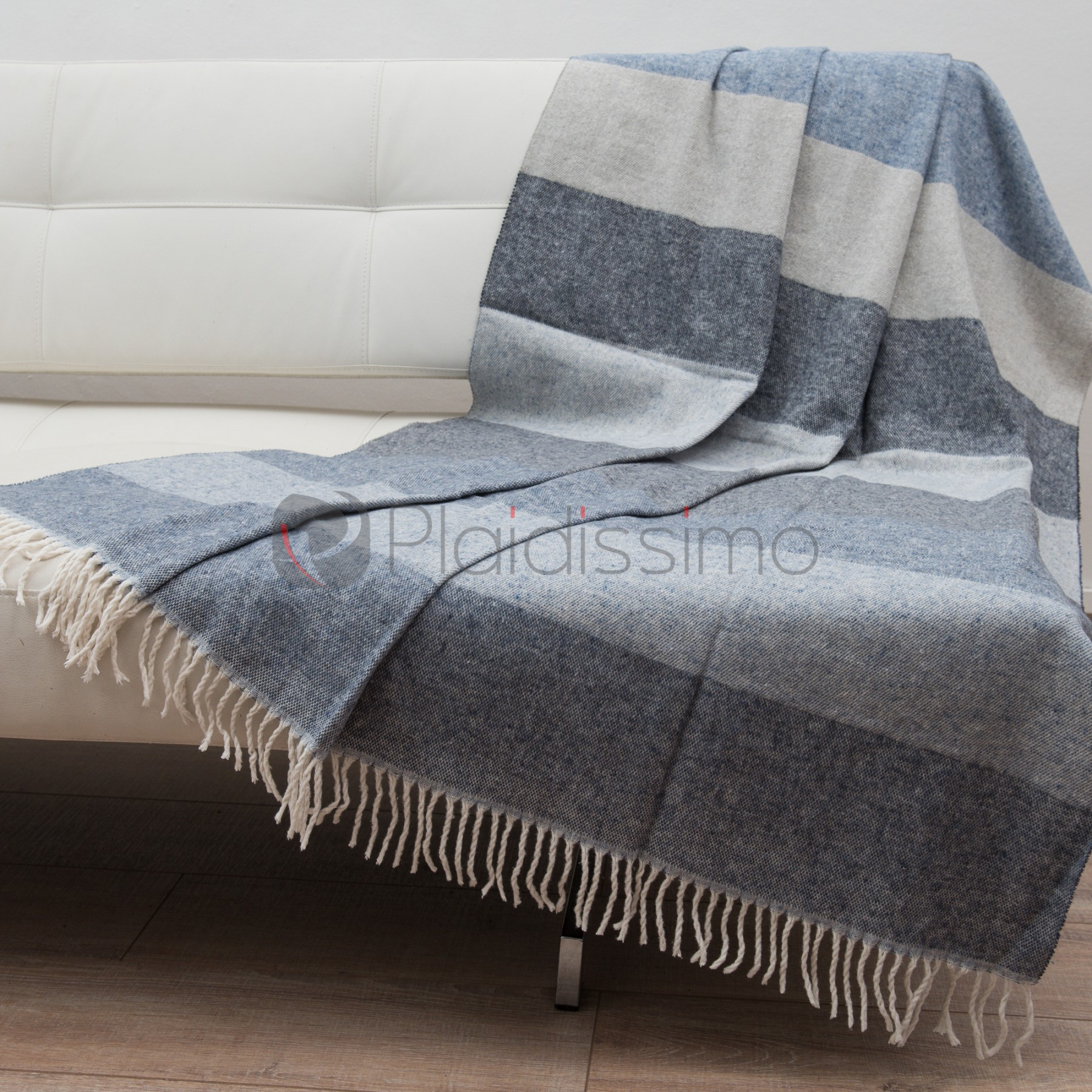 plaid 100 coton design bandes en nuances de bleus sobre el gant. Black Bedroom Furniture Sets. Home Design Ideas