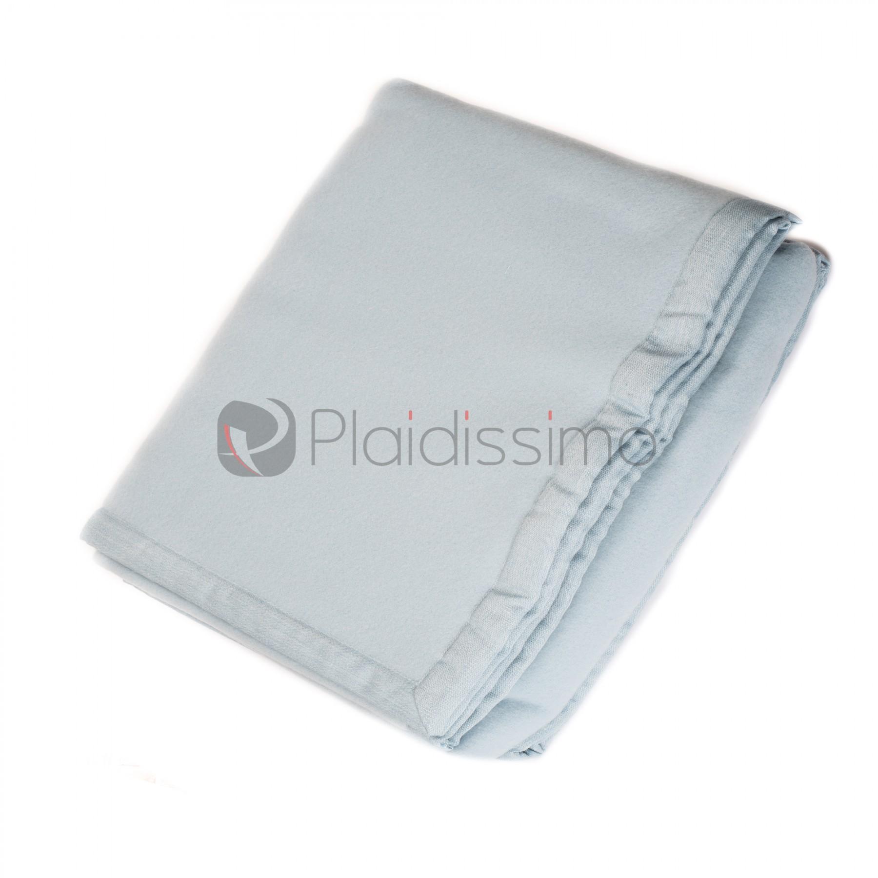 Plaid en Laine Mérinos Epais façon Couverture · Origami Bleu Clair ea455684933