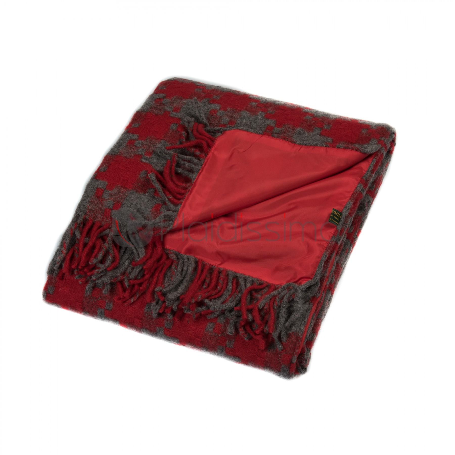 Plaid de Pique-Nique Imperméable · 100% Pure Laine Vierge · Jigsaw Red 7517cc3f196