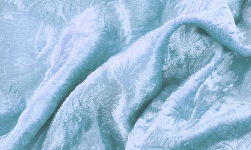 Matière des plaids - couleur bleu