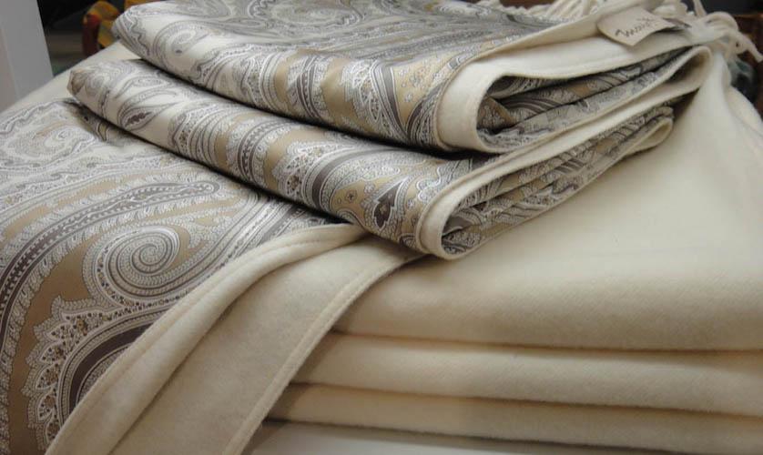 Plaid en soie et cachemire