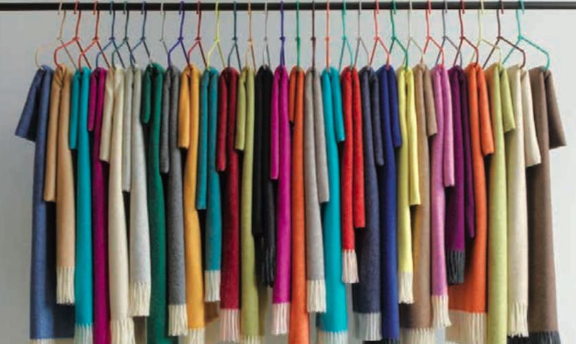 Plaids de couleur