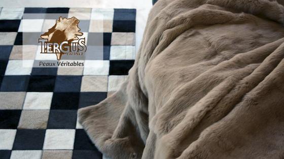 Tergus - Plaids en fourrure de lapin